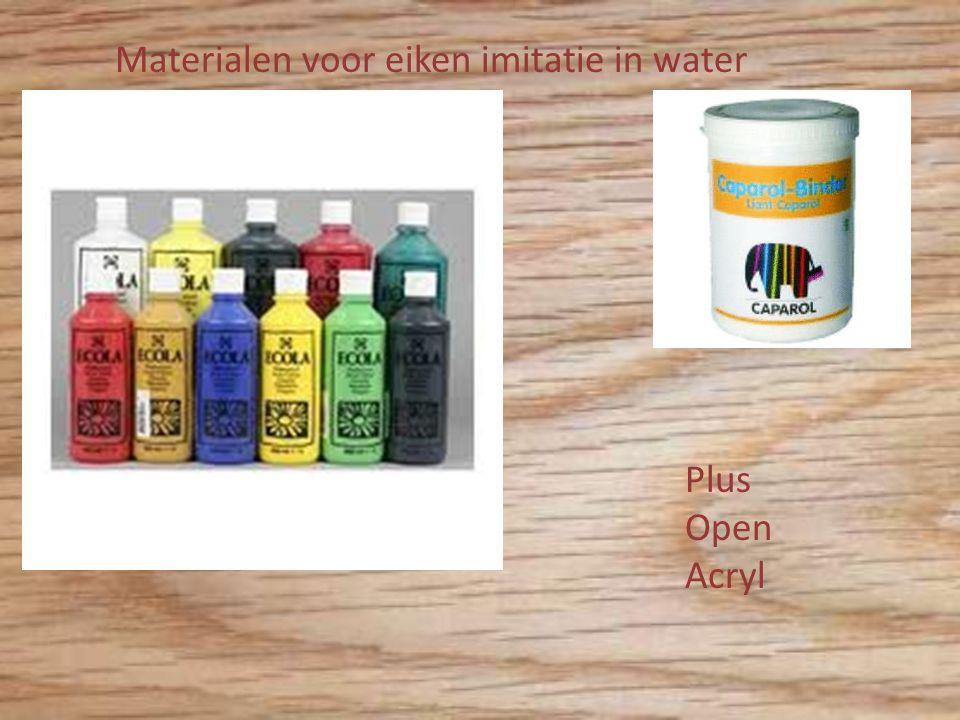 Materialen voor eiken imitatie in water