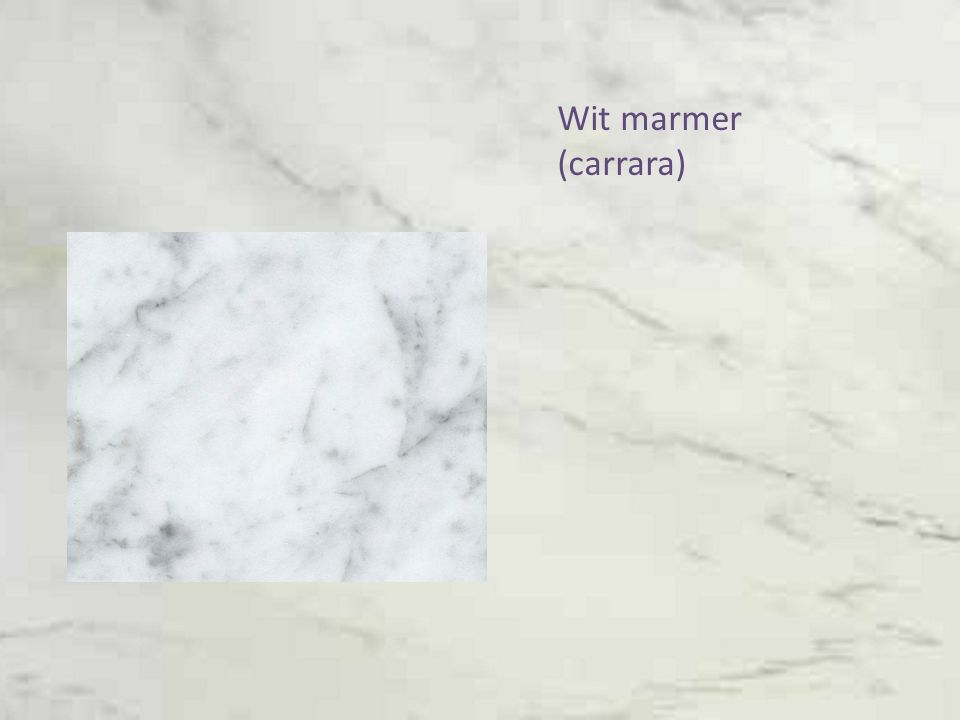 Wit marmer (carrara)