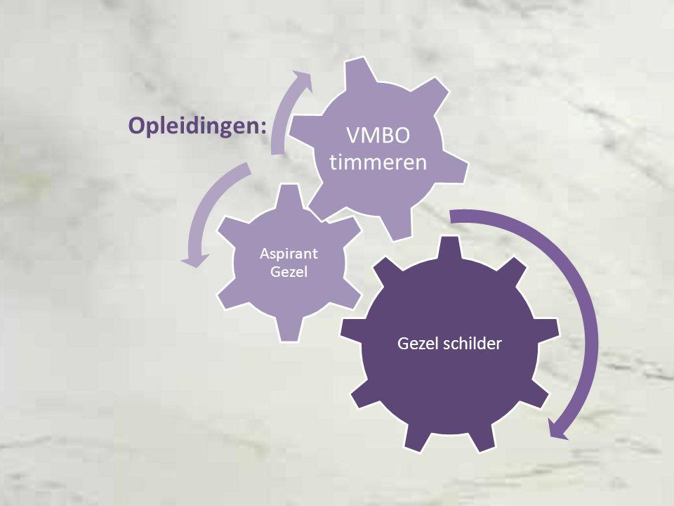 Gezel schilder Aspirant Gezel VMBO timmeren Opleidingen: