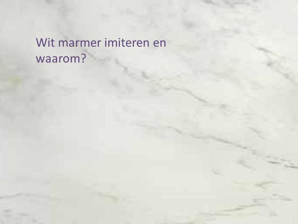 Wit marmer imiteren en waarom