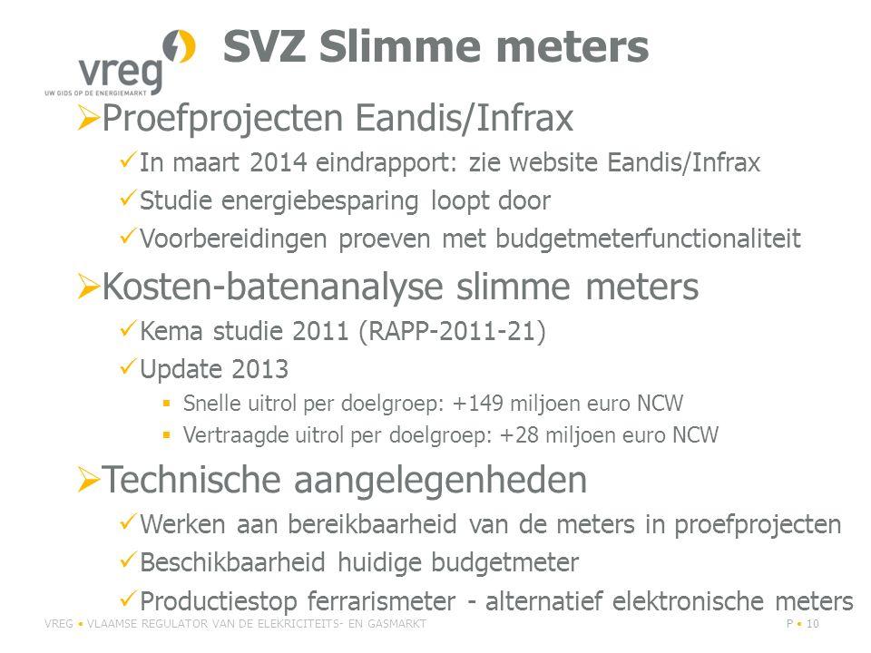 SVZ Slimme meters Proefprojecten Eandis/Infrax