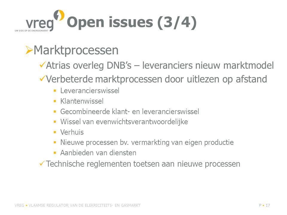 Open issues (3/4) Marktprocessen