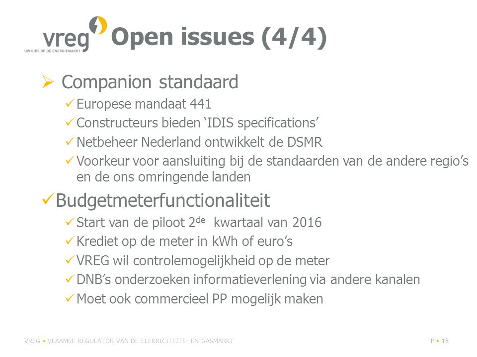 Open issues (4/4) Companion standaard Budgetmeterfunctionaliteit