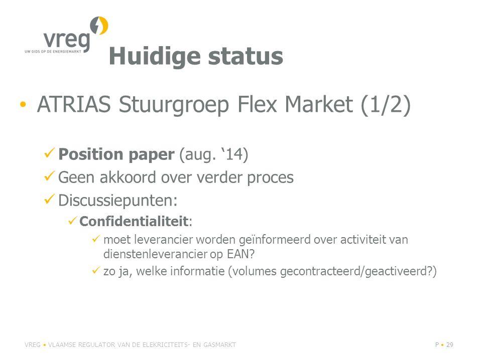 Huidige status ATRIAS Stuurgroep Flex Market (1/2)