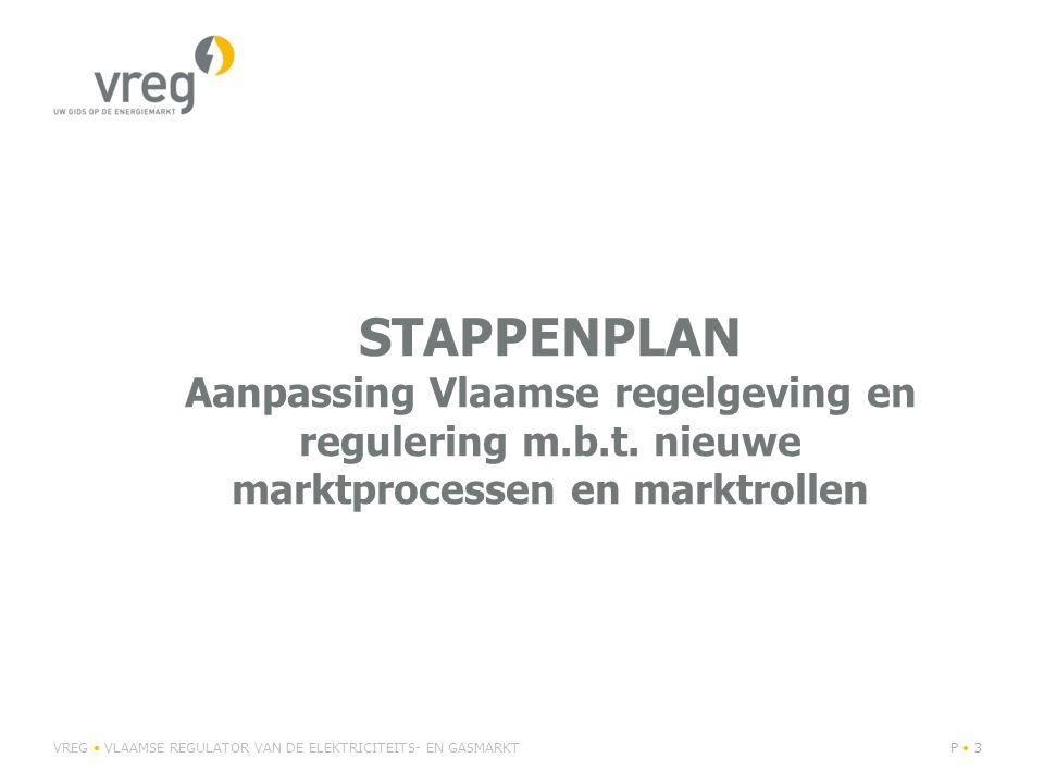 stappenplan Aanpassing Vlaamse regelgeving en regulering m. b. t