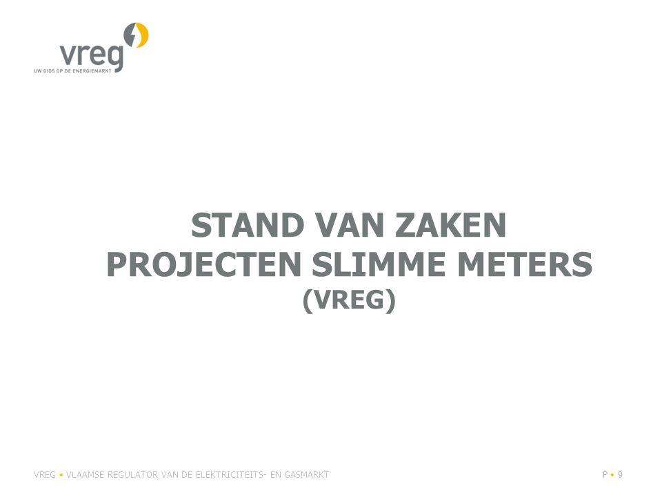 stand van zaken projecten slimme meters (Vreg)