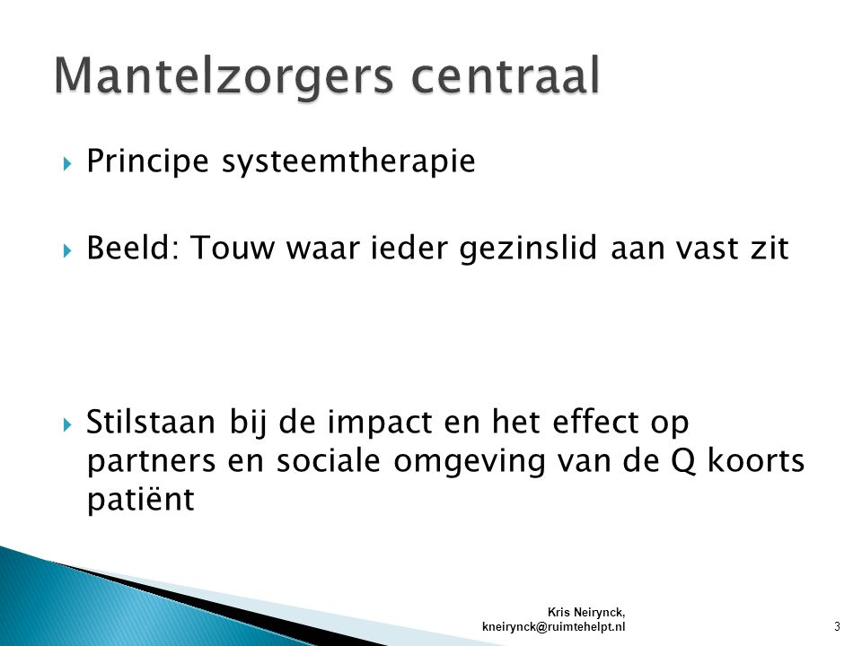 Mantelzorgers centraal