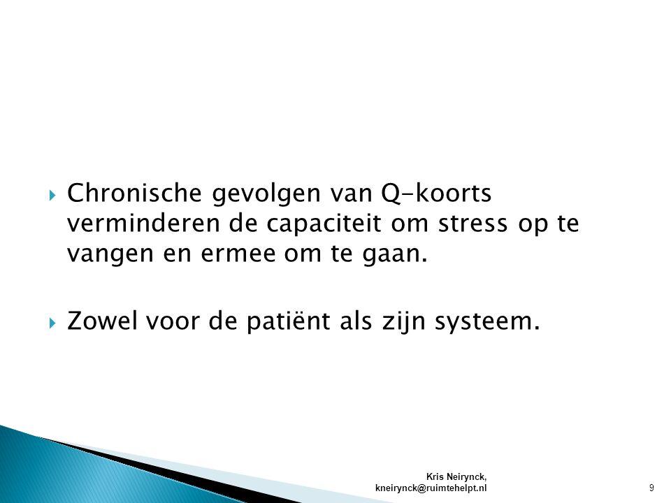 Zowel voor de patiënt als zijn systeem.