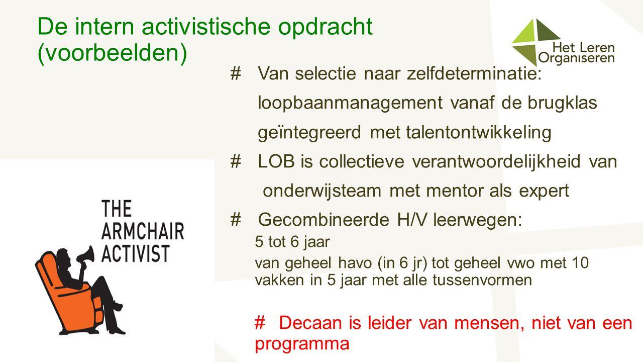 De intern activistische opdracht (voorbeelden)