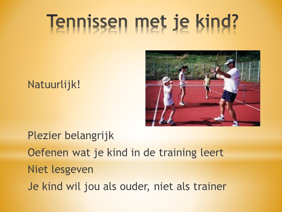 Tennissen met je kind