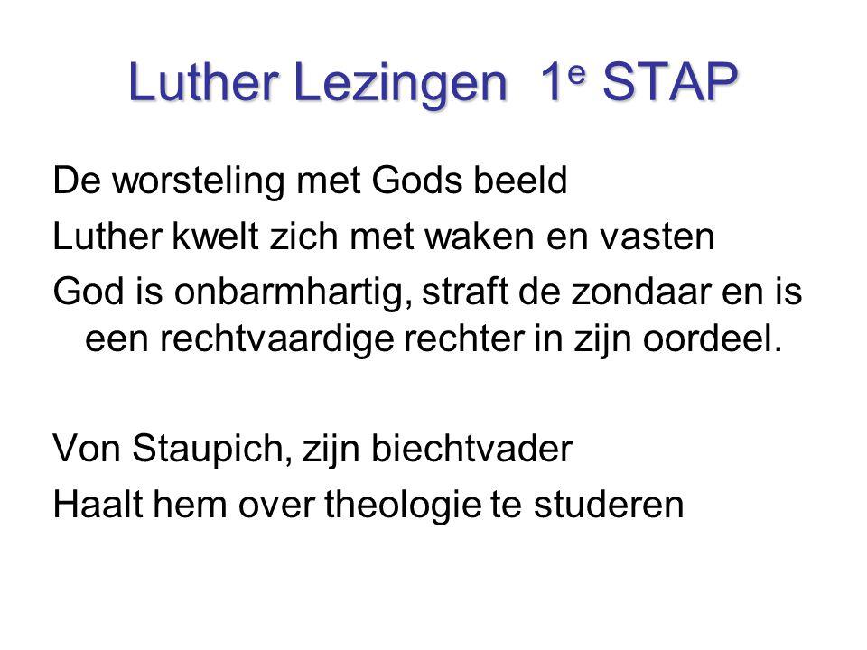Luther Lezingen 1e STAP De worsteling met Gods beeld