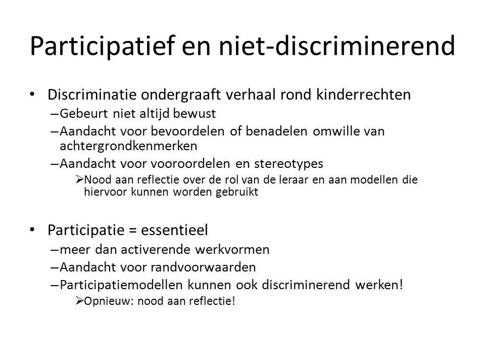 Participatief en niet-discriminerend