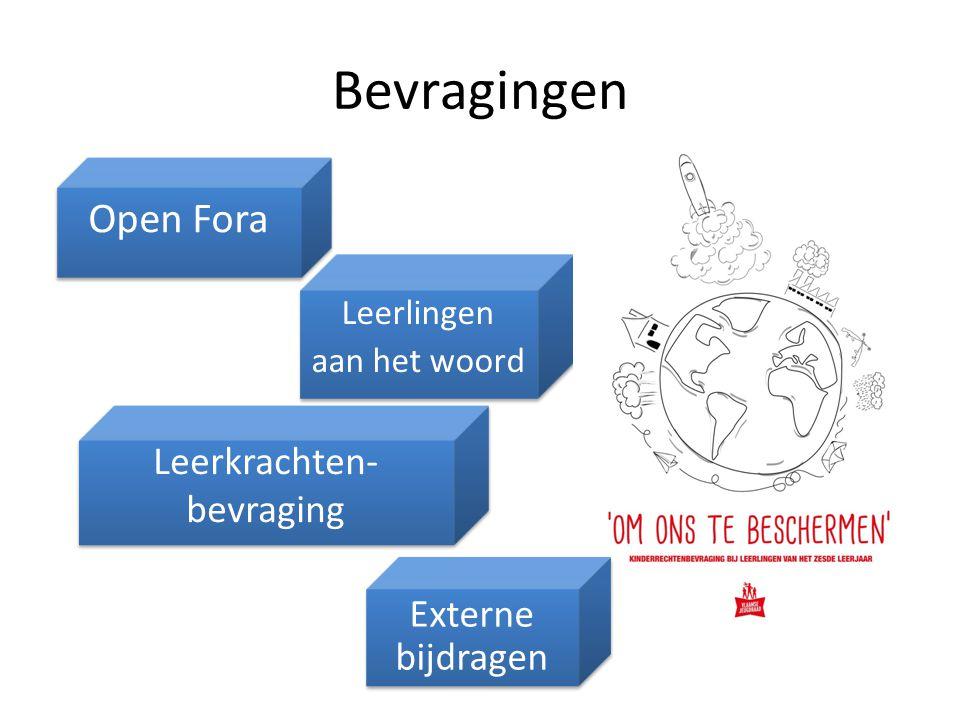 Bevragingen Open Fora Leerkrachten- bevraging Externe bijdragen