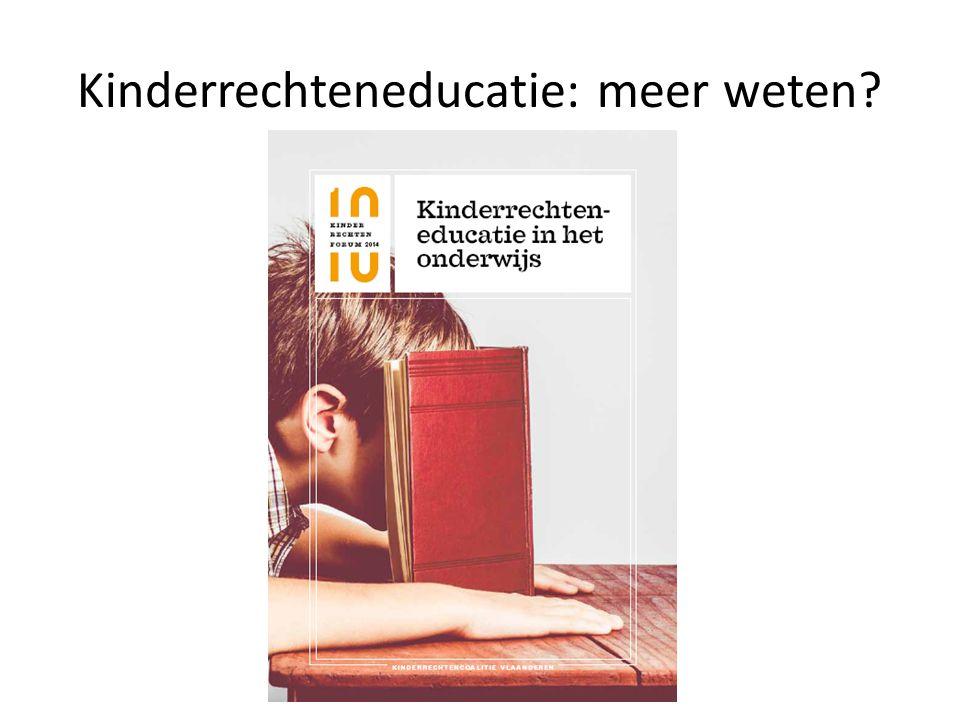 Kinderrechteneducatie: meer weten