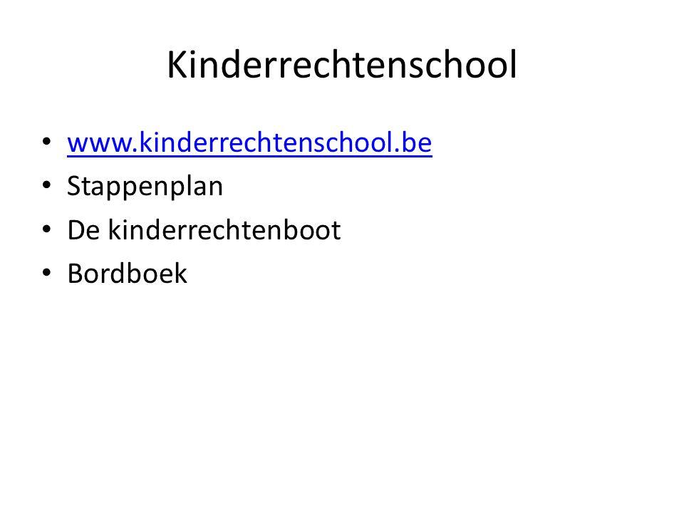 Kinderrechtenschool www.kinderrechtenschool.be Stappenplan