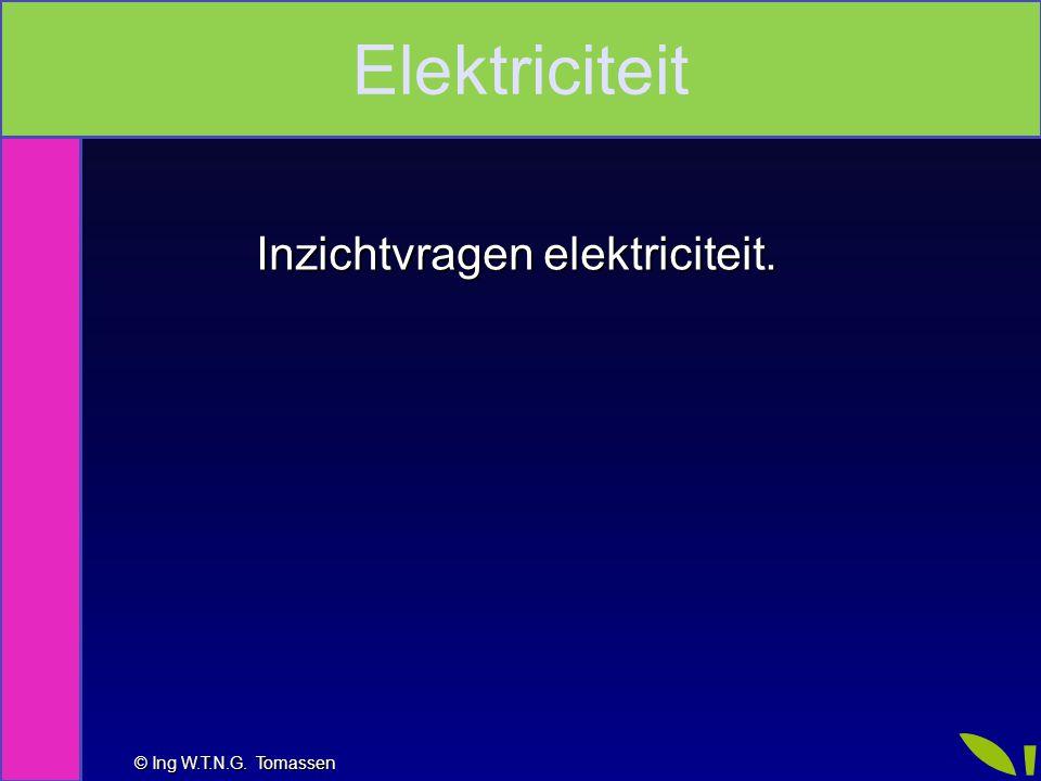 Inzichtvragen elektriciteit.