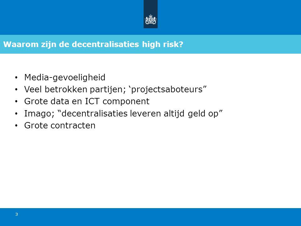 Waarom zijn de decentralisaties high risk