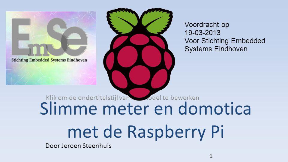 Slimme meter en domotica met de Raspberry Pi
