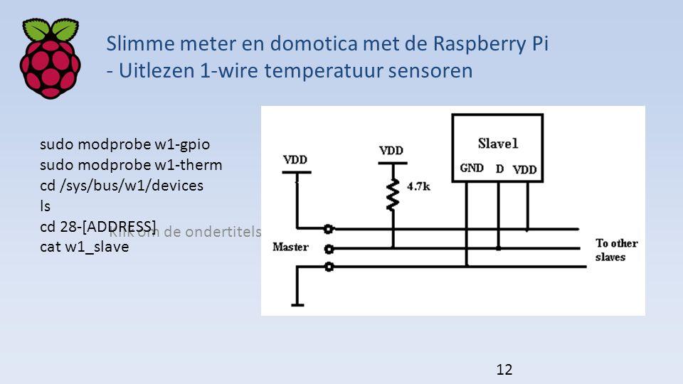 Slimme meter en domotica met de Raspberry Pi - Uitlezen 1-wire temperatuur sensoren