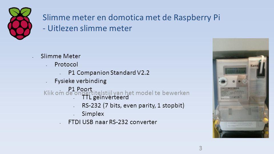 Slimme meter en domotica met de Raspberry Pi - Uitlezen slimme meter