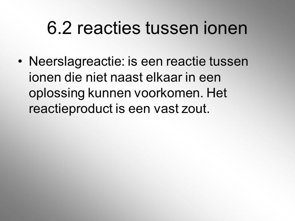 6.2 reacties tussen ionen