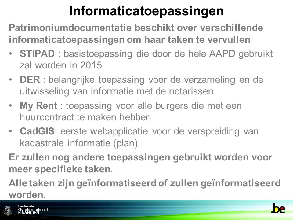 Informaticatoepassingen