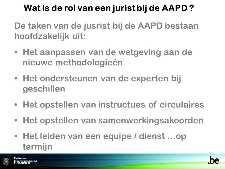 Wat is de rol van een jurist bij de AAPD