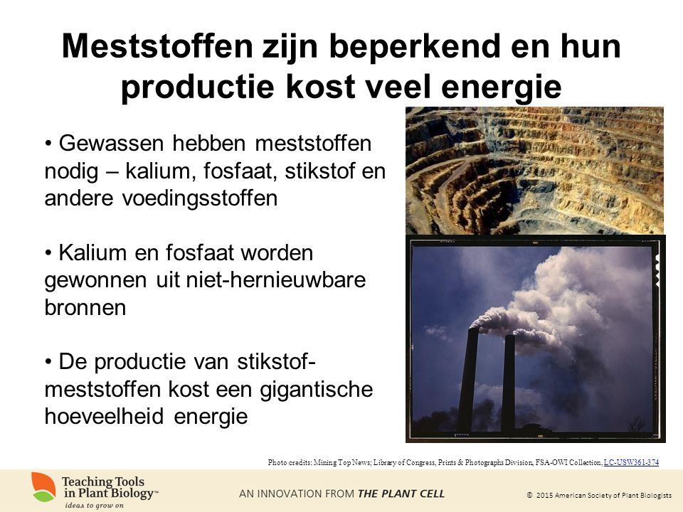Meststoffen zijn beperkend en hun productie kost veel energie