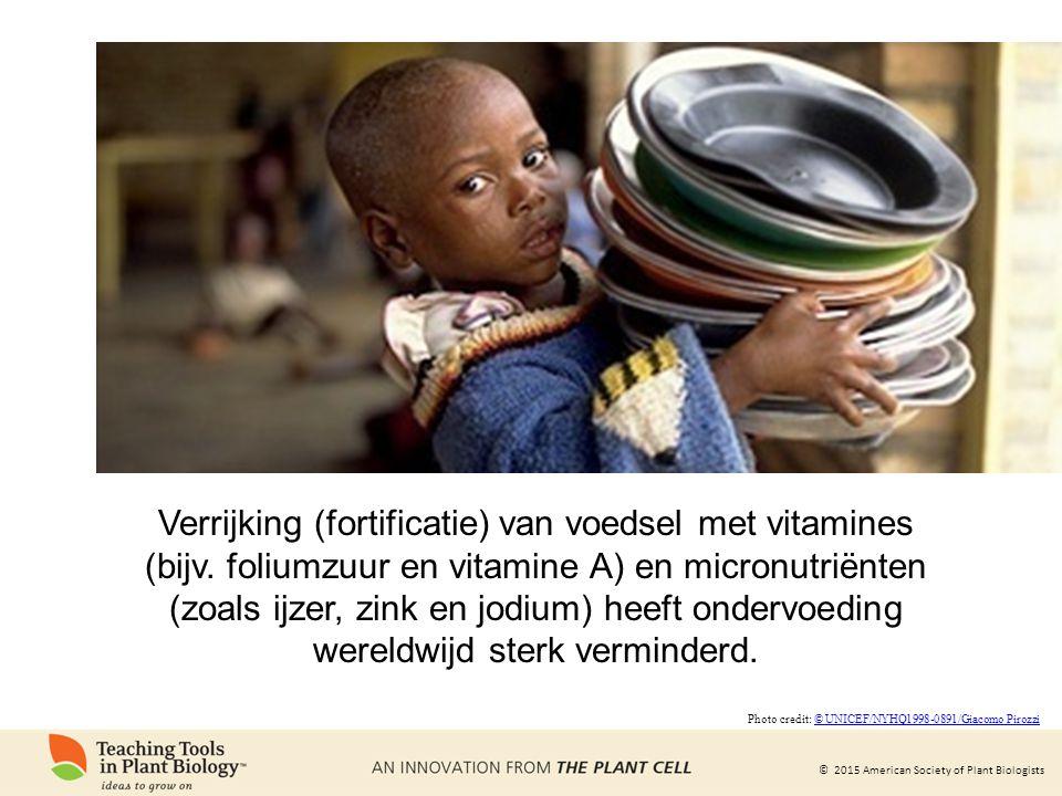 Verrijking (fortificatie) van voedsel met vitamines (bijv