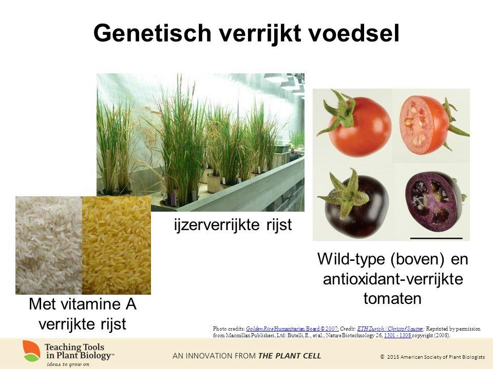 Genetisch verrijkt voedsel