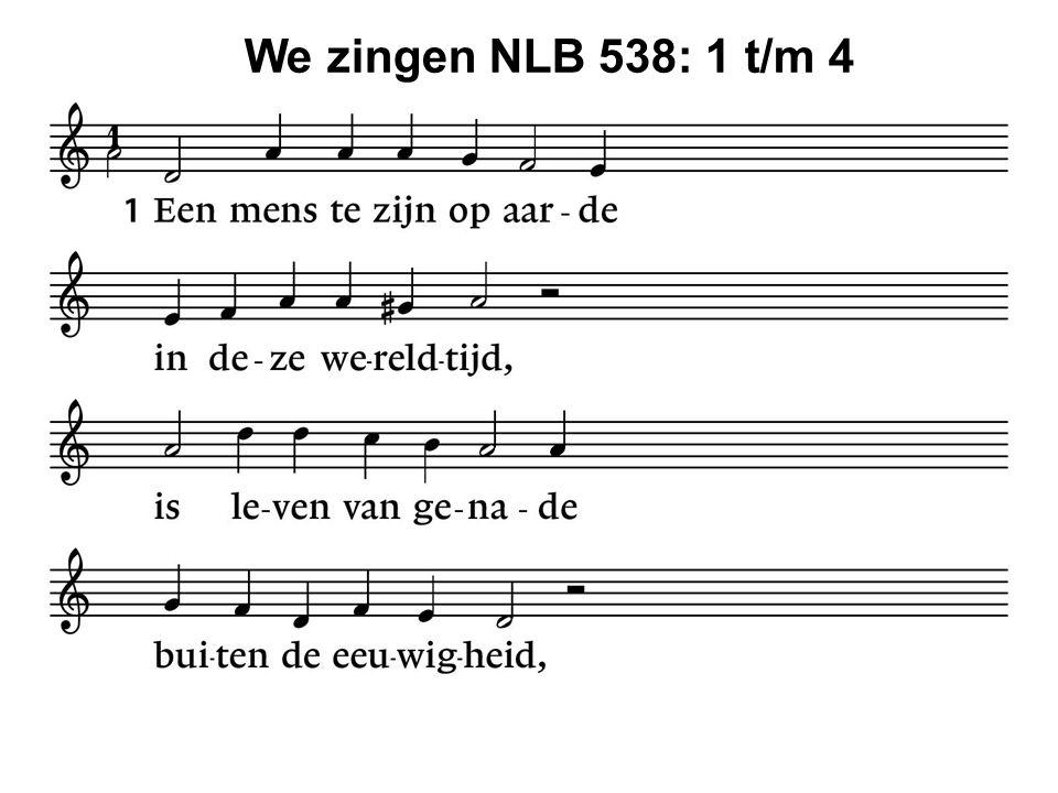 We zingen NLB 538: 1 t/m 4 41