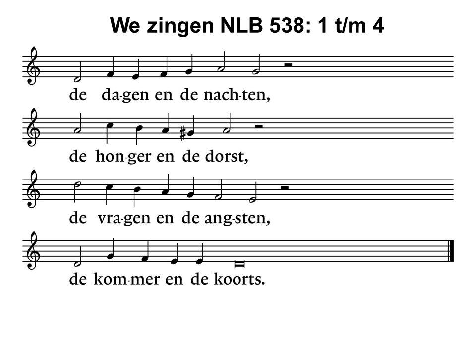 We zingen NLB 538: 1 t/m 4 46