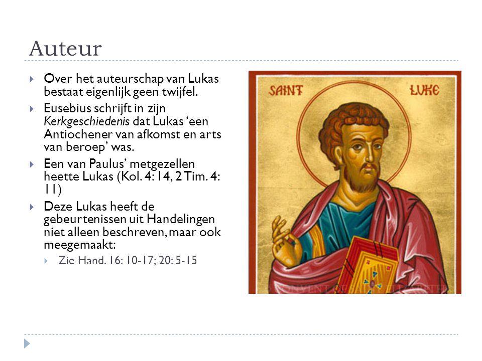 Auteur Over het auteurschap van Lukas bestaat eigenlijk geen twijfel.