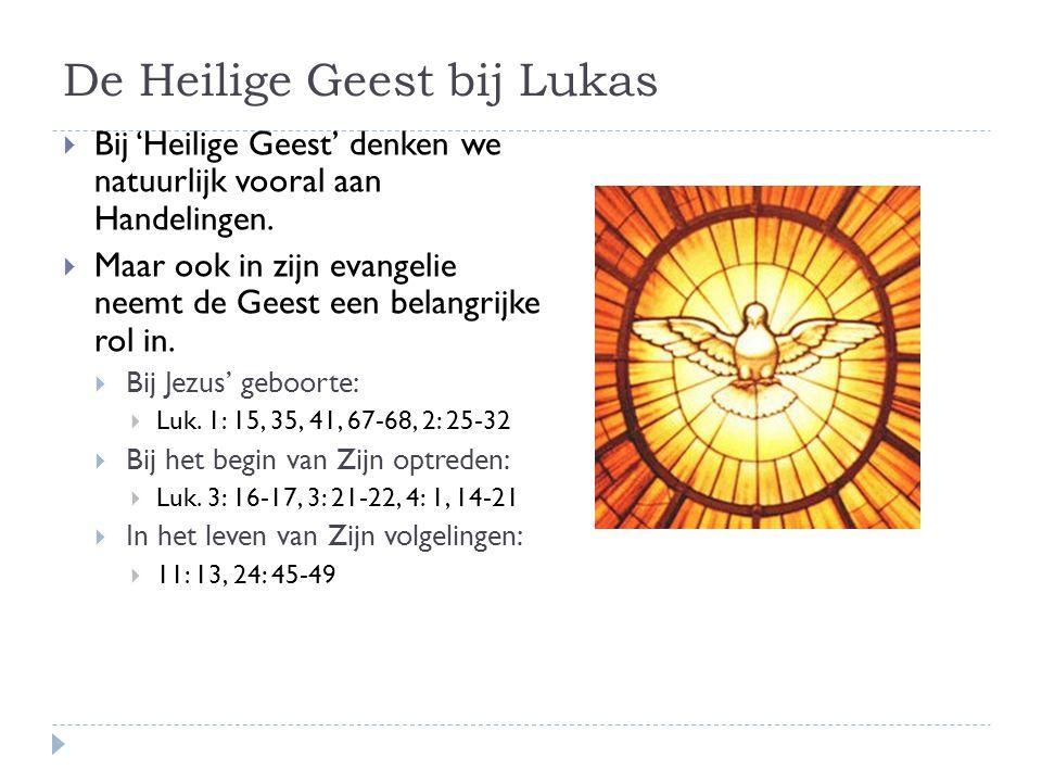 De Heilige Geest bij Lukas