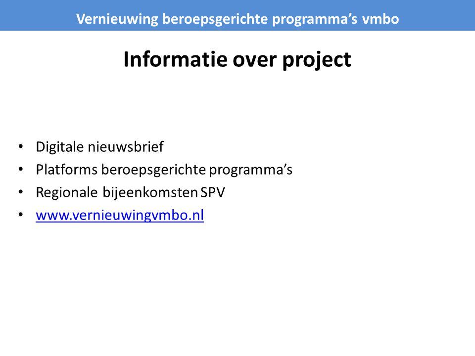 Informatie over project