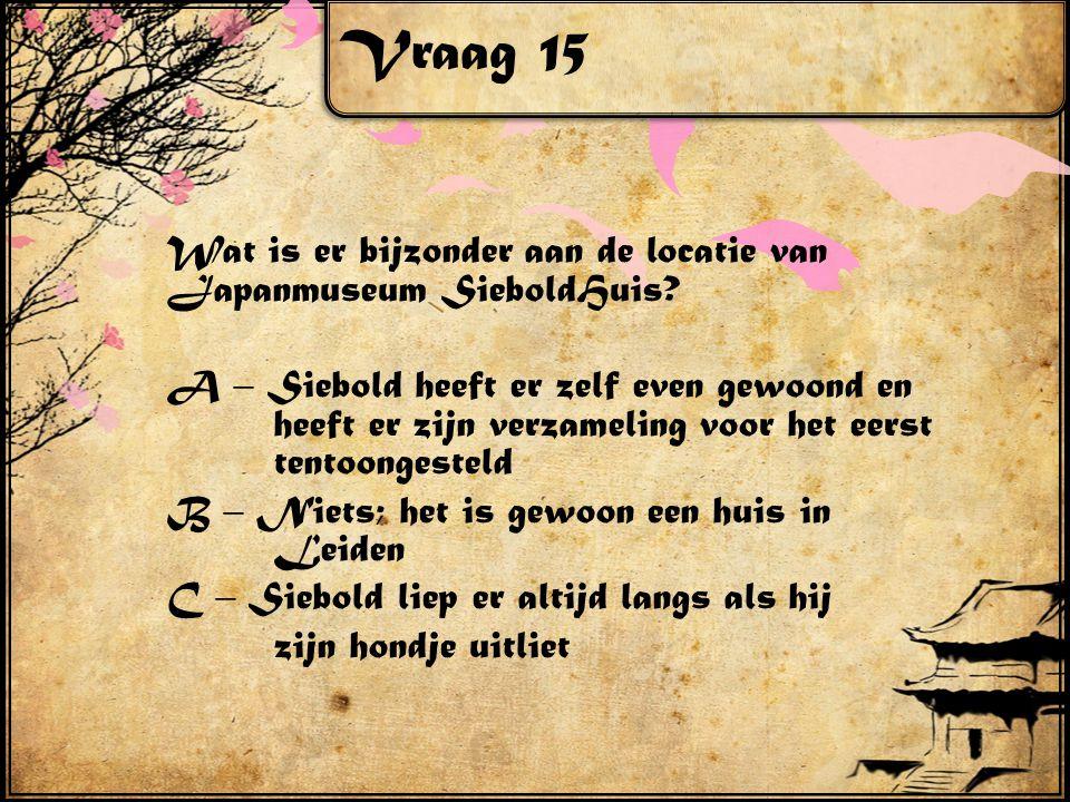 Vraag 15