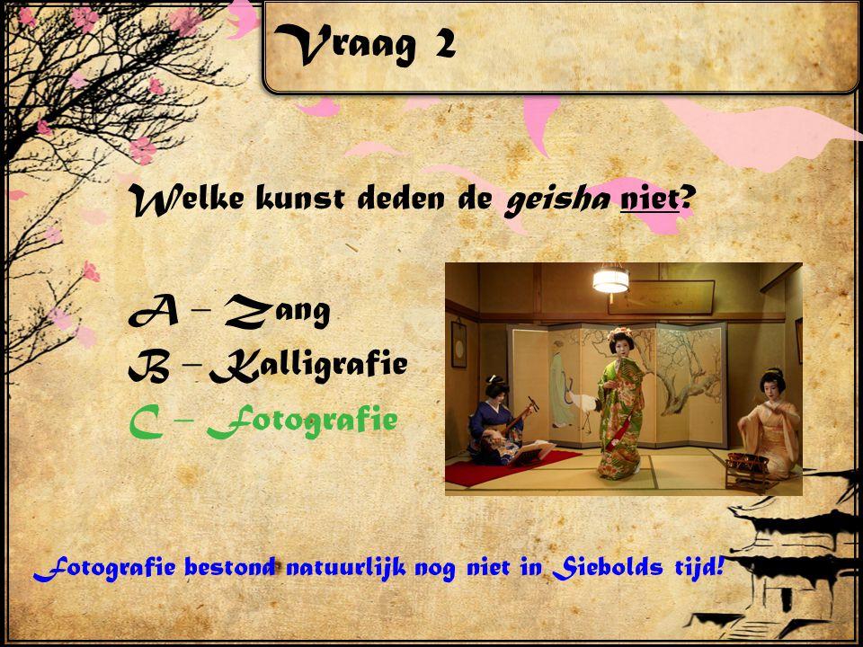 Vraag 2 Welke kunst deden de geisha niet.