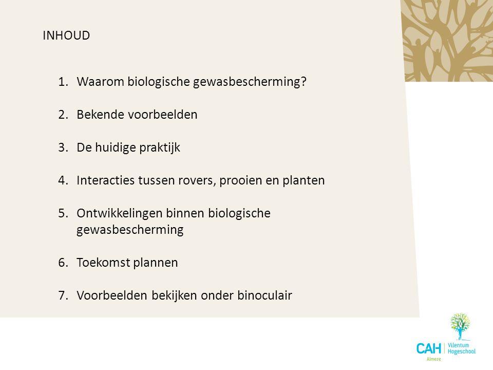 Waarom biologische gewasbescherming Bekende voorbeelden