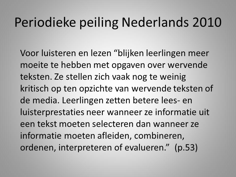 Periodieke peiling Nederlands 2010