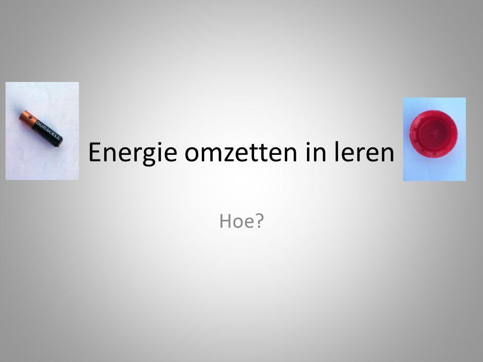 Energie omzetten in leren