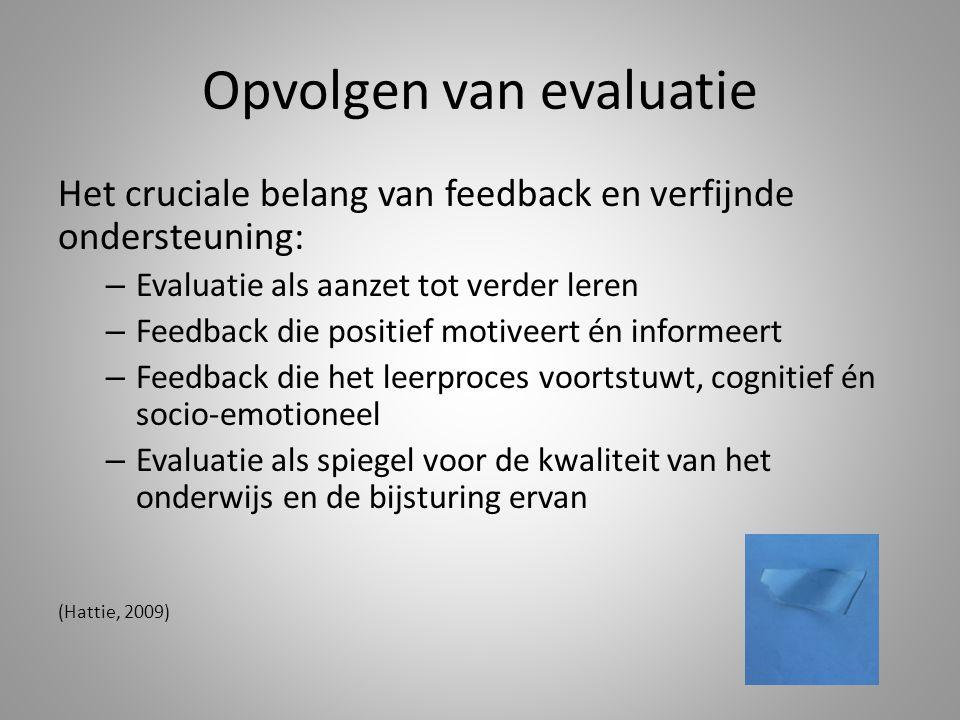 Opvolgen van evaluatie
