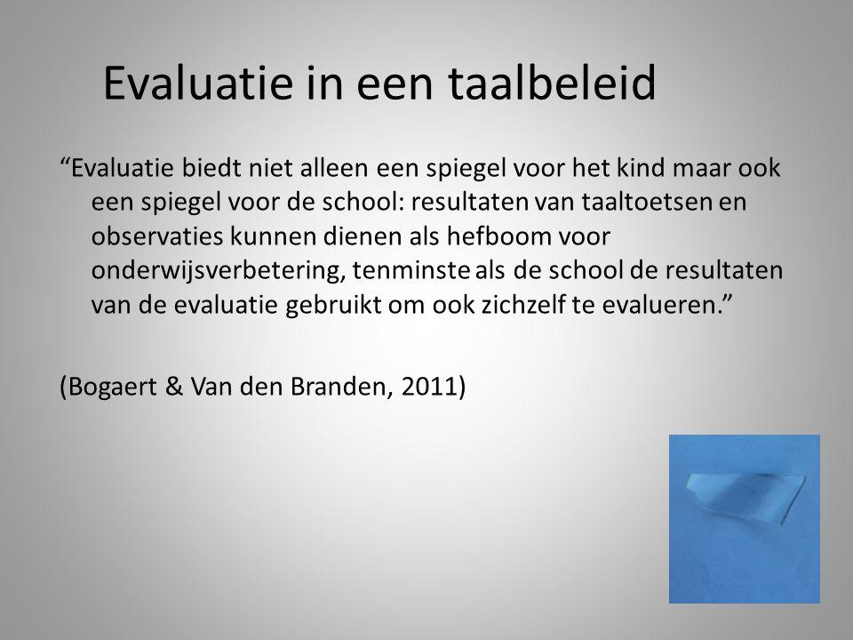 Evaluatie in een taalbeleid