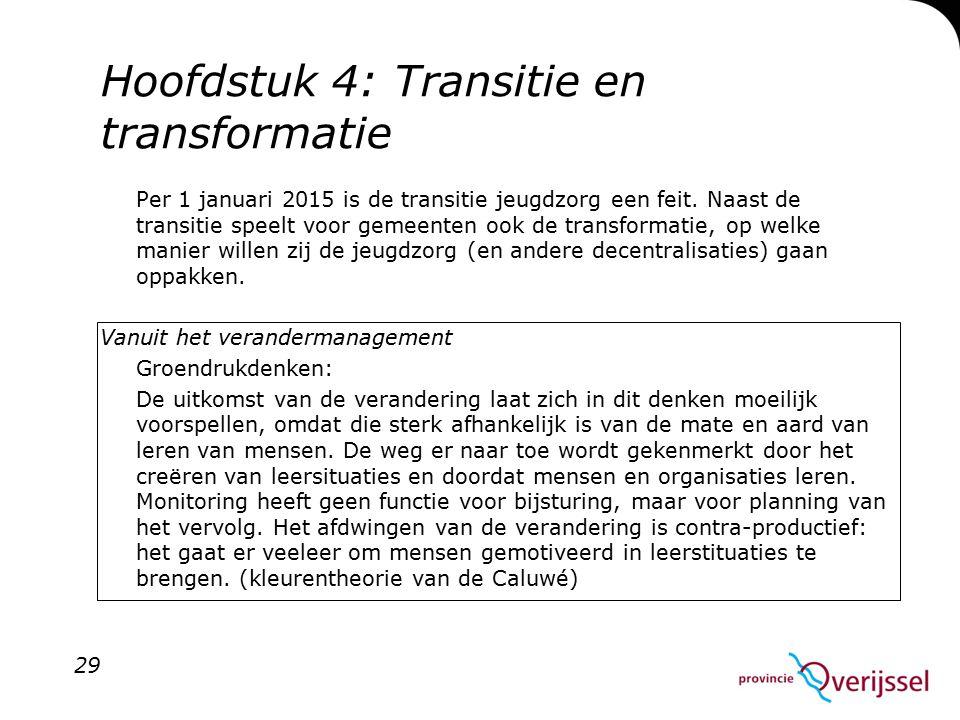 Hoofdstuk 4: Transitie en transformatie
