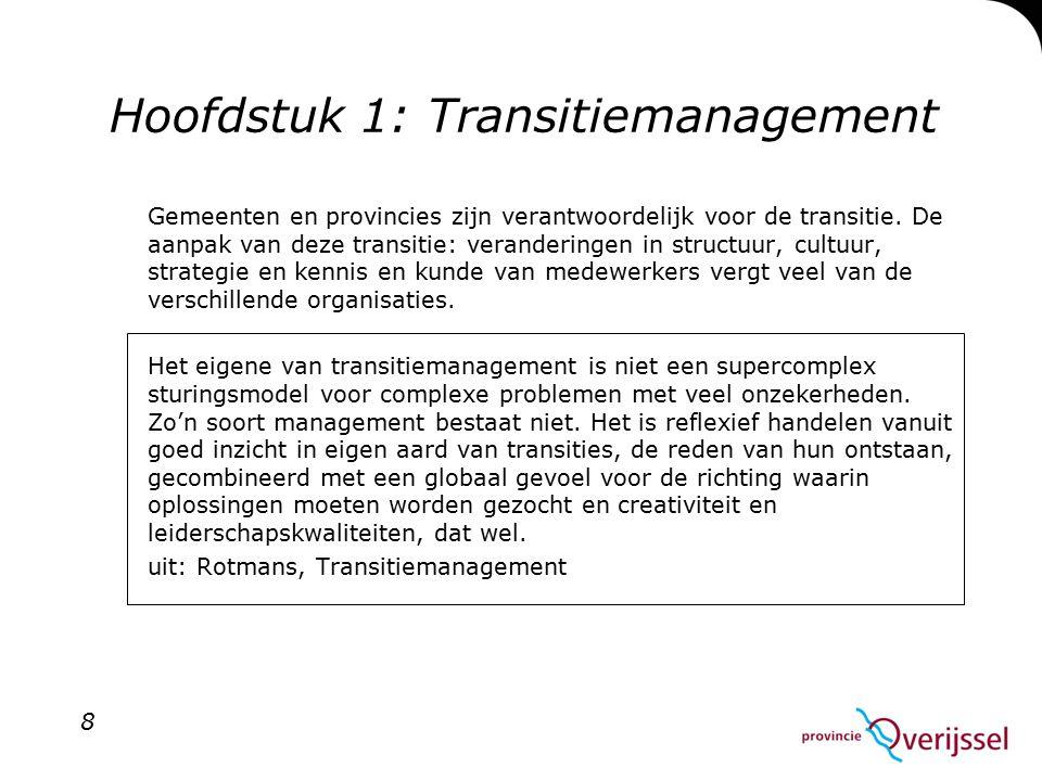 Hoofdstuk 1: Transitiemanagement