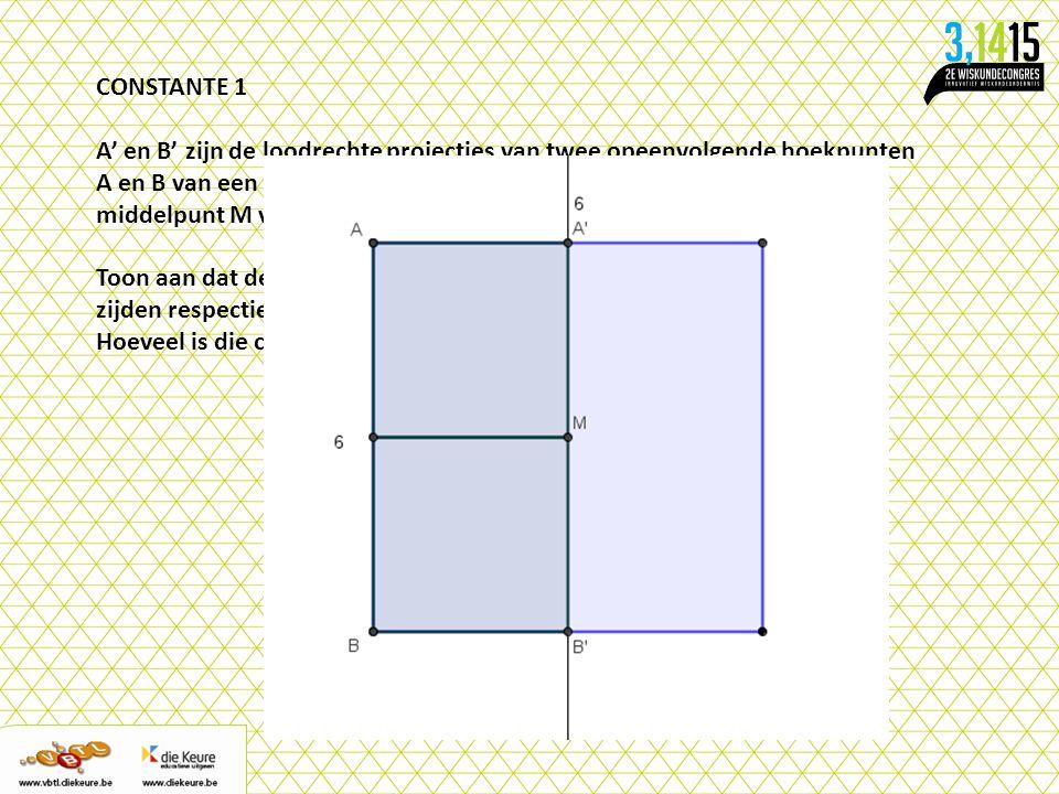 CONSTANTE 1 A' en B' zijn de loodrechte projecties van twee opeenvolgende hoekpunten.