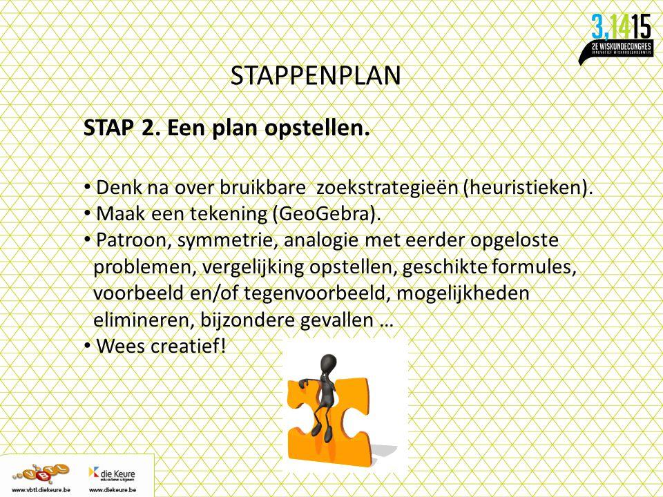 STAPPENPLAN STAP 2. Een plan opstellen.