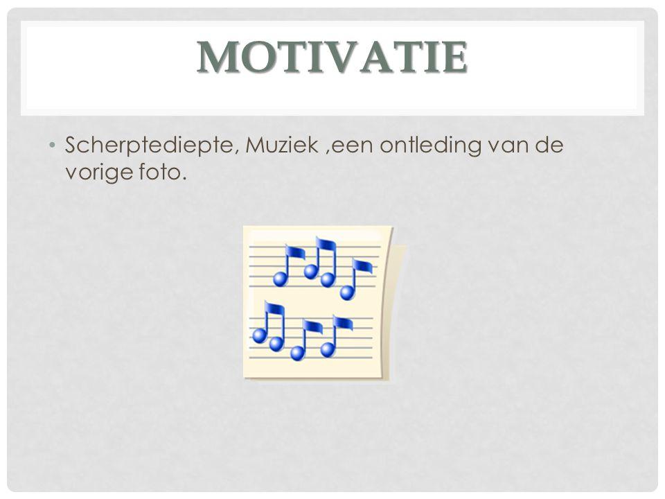 Scherptediepte, Muziek ,een ontleding van de vorige foto.
