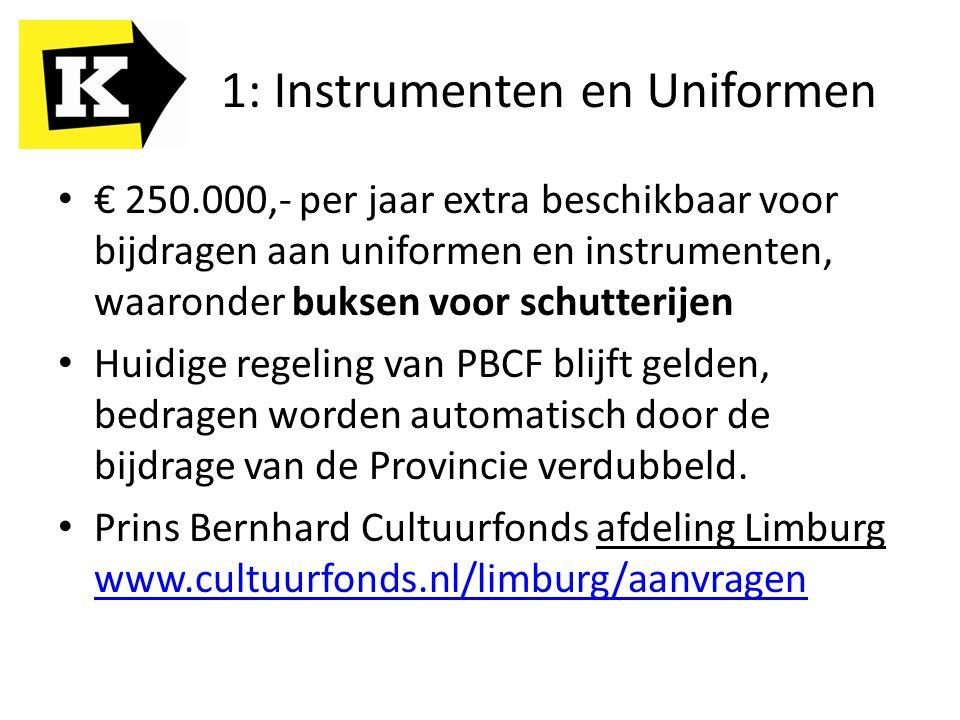 1: Instrumenten en Uniformen