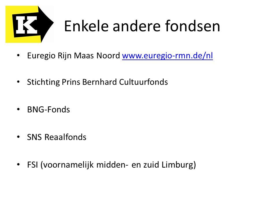 Enkele andere fondsen BNG-Fonds SNS Reaalfonds