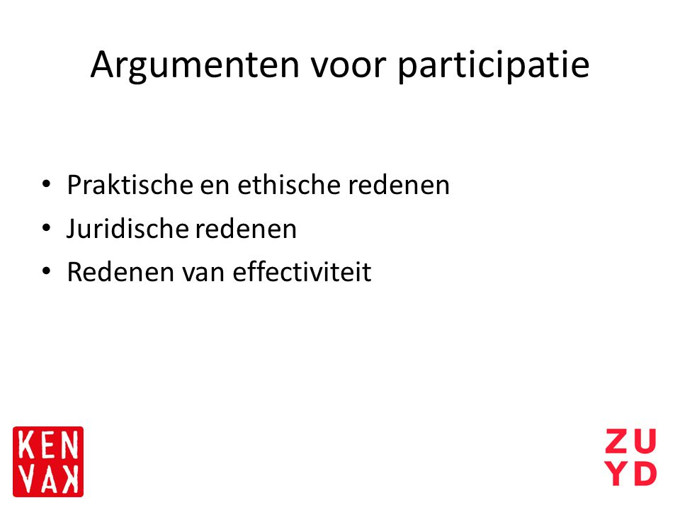 Argumenten voor participatie
